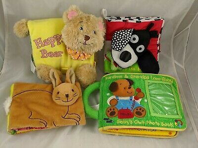Primary image for Soft Play Manhattan Toy Cloth Book Jingles Photo Lot of 4 Stuffed Animal