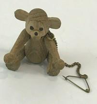 """Teak Bear Jointed Mid Century Wood Figure 2.25"""" Miniature Zoo Line 1959 ... - $74.24"""