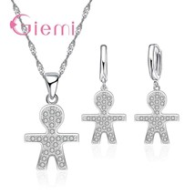 Cute Fairy Style Engagement Party Jewelry Sets For Women Figue Filled-Zi... - $8.96