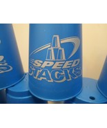 SET OF 10 BLUE SPEED STACKS CUPS AND CARRY BAG  - $8.90