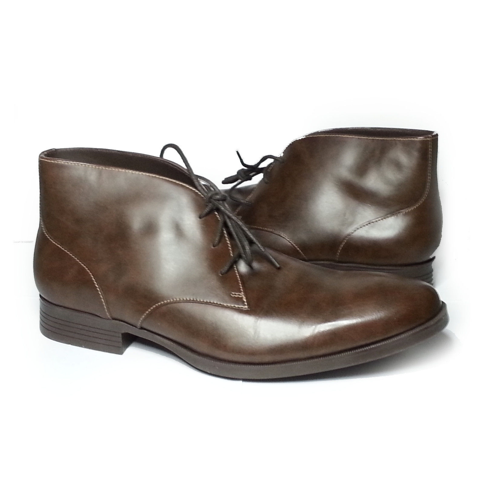 Cole Haan Men Size 10.5 Brown Leather Copley Chukka Boots Made in India New Box