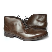 Cole Haan Men Size 10.5 Brown Leather Copley Chukka Boots Made in India New Box image 1