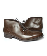 Cole Haan Men Size 10.5 Brown Leather Copley Chukka Boots Made in India ... - €131,82 EUR