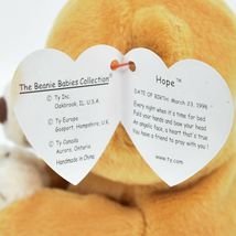 1998/1999 Ty Beanie Baby Original Hope the Praying Bear Beanbag Plush Doll Toy image 6