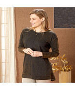 Charcoal Colored Vintage-Washed Comfy Tunic - M (10/12)  - $33.71