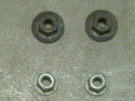 05 2005 Ford F250 Front Door Stop Check Hinge Mounting Nuts Set - $2.99