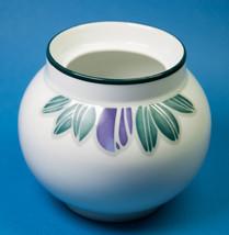 Dansk Eden Sugar Bowl No Lid Purple Flowers Green Leaves Vase - $5.00