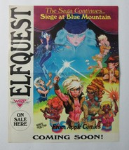 Original 1986 Elfquest 13 1/2 by 11 Apple Comic book promo poster:Pini art/1980s - $39.99