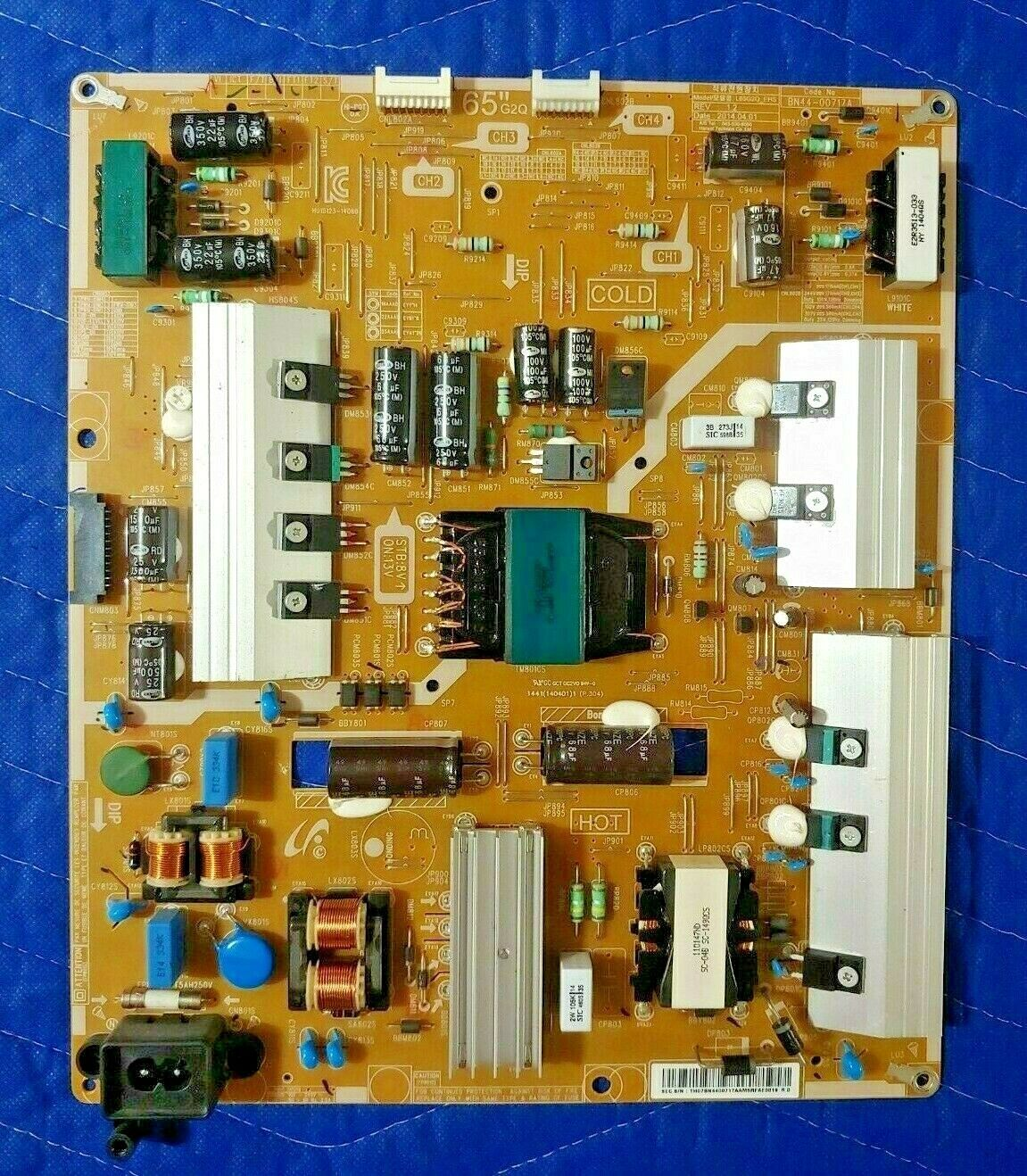 Primary image for SAMSUNG UN65H7150AFXZA  Power Board BN44-00717A