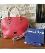 Dooney & Bourke Zip Zip Satchel Red Bag Purse Handbag - $196.02