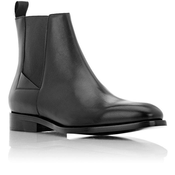Handmade men black leather boot, leather boots for men, Chelsea boots men