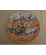 1992 SUMMER OLYMPICS Collector Plate BARCELONA, SPAIN Anheuser Busch BUD... - $19.99