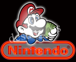 "New Nintendo Game Room Neon Sign 19"" with HD Vivid Printing Technology - $124.00"
