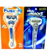 Lot of 2 Gillette Razors Mach3 Turbo, Fusion both Sealed in Pkg.! - $15.46