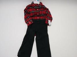 Red Plaid Shirt, Black Pants - $34.65