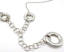 Necklace Silver 925, Chain Rolo ' , Circles Hanging, Worked And Hammered image 3