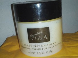 Signature Club A Lemon Zest Meltdown Cleansing Creme for Face & Eyes 4.5... - $24.74