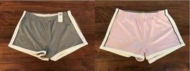 New Abercrombie & Fitch Women Light Gray Trim Dry Fit Active Track Shorts L - $19.99