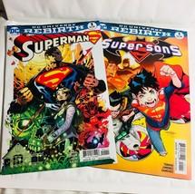 2 DC Comic Books Superman & Super Sons - $9.99