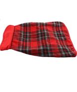 Martha Stewart Plaid Barn Coat Dogs Red Black L NEW M59915 - $18.79