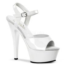 "PLEASER Sexy White Platform 6"" High Heels Wedding Bridal Dancer Sandals Shoes - $41.95"