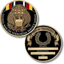 United States Military Global War on Terrorism Service Medal Challenge Coin - $10.88