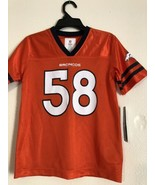 Denver Broncos Orange Jersey #58 Von Miller NFL Team Kids Apparel Size S... - $17.10