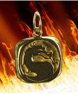 SALE Mortal Kombat 24k Gold vermeil Charm Pendant MK Jewelry - $22.51
