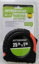 25 ft x 1 inch Tape Measure with Metal Tape, ABS Casing, Hand Loop & Belt Hook - $3.95
