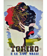 """20x30""""Poster on Canvas.Home Room Interior design.Travel Italy.Torino.6506 - $60.78"""