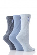 3 Pairs Ladies Luxury Jeep Jean/Boot Socks 4-7 Uk, 4 Colours - JL004 - $12.25
