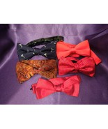 5 Bow Ties- Red w/ Black Polka, Red w/ White Polka, Martini, Red, & Fall... - $57.92