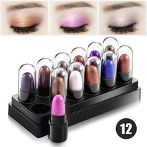 New Mini 12 Colors Maquiagem Glitter Eyes Makeup Eyeshadow Stick Waterpr... - $45.00