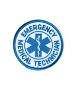 "EMT Emergency Medical Technician Embroidered Round 3"" Patch - $5.99"