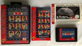 ☆ Greatest Heavyweights (Sega Genesis 1993) COMPLETE in Box Game Manual ... - $19.99