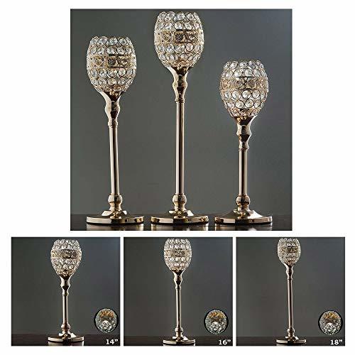 Gold Crystal Candle Holder Goblet Wedding Chandelier Centerpiece 2PCS TkFavort ( - $69.30