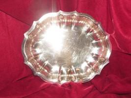 """silverplate dish CHIPPENDALE INTERNATIONAL 11.5 x 9.25 x 1.5"""" (b6) - $14.03"""