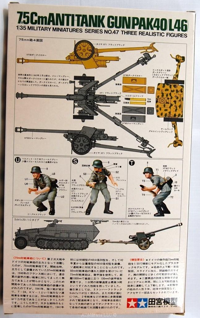 1/35 7.5Cm Antitank Gun (PAK40/L46) Kit No MM 147 Series No. 47