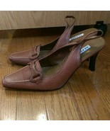 Alfani Brown Leather Upper Pointed Toe Heels Size 6.5 M - $18.99