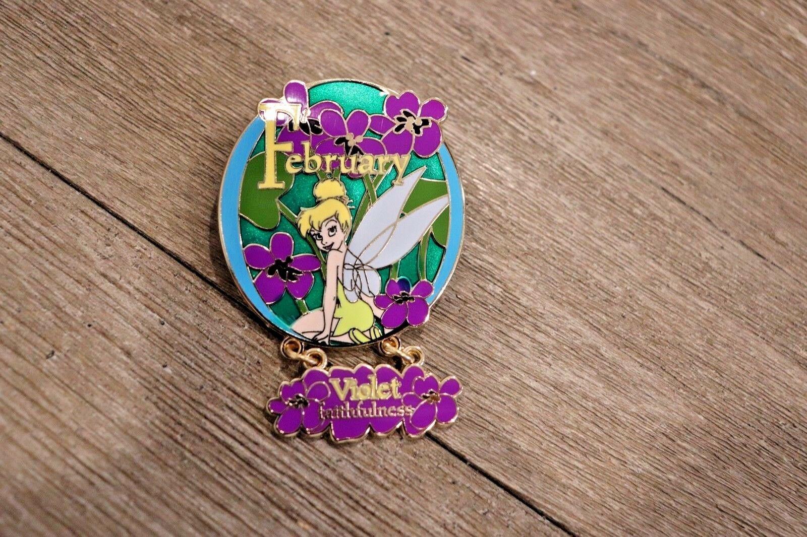 Disney Campanilla Flor Colección 2007 Febrero Violet Faithfulness Pin Le