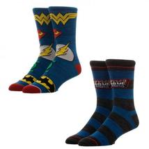 Justice League 2 Pair Blue Crew Socks - $15.00