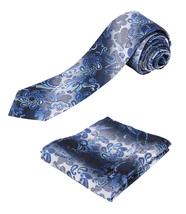 Berlioni Italy Men's Classic Paisley Striped Necktie Tie Handkerchief Gift Set image 15