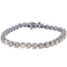 "WOMENS DIAMOND TENNIS LINK BRACELET 10.12 CARAT ROUND CUT WHITE GOLD 7"" ... - $9,895.05"