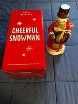 "2014 Hallmark Keepsake - CHEERFUL SNOWMAN - 12"" Tall Christmas Table Dec... - $9.40"