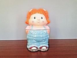 Vintage Red-Head Freckled Face Little Girl Ceramic Cookie Jar/Canister - $47.48