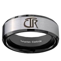 CTR 8mm Black Beveled Tungsten Carbide Wedding Band Ring - $43.99