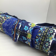 Heavy Duty Colorful Yoga Mat Bag Carrier Canvas Blue Floral NEW - $18.42