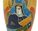 """Vintage Asian Satsuma Vase , Moriage  Made in Japan 6"""" x 3"""""""