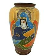 """Vintage Asian Satsuma Vase , Moriage  Made in Japan 6"""" x 3""""  - $17.09"""