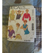 McCall's 3866 Misses Size 16 Blouses - $6.99